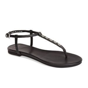 Cole Haan Leather Thong Sandals, Black, NWOT